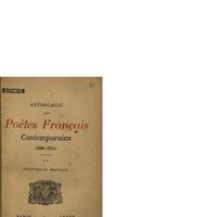 Anthologie des Poètes Français Contemporaines