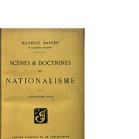 Barrès, Maurice Scènes et Doctrines du Nationalisme
