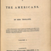 Trollope, Francis Domestic Manners of the Americans