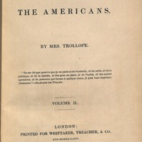Trollope, FrancisDomestic Manners of the Americans